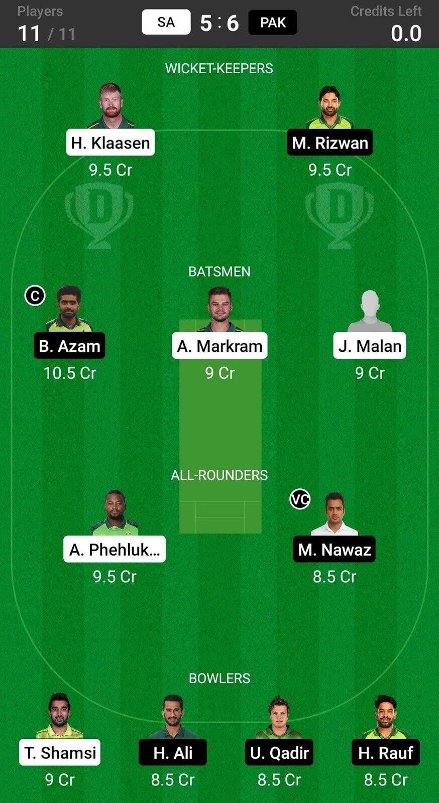 South Africa vs Pakistan Dream11 Prediction: 3rd T20I, April 14, 2021