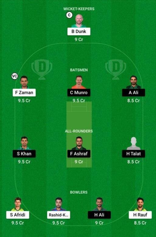 Dream11 PSL 2021 Islamabad United vs Lahore Qalandars Match 15, June 9