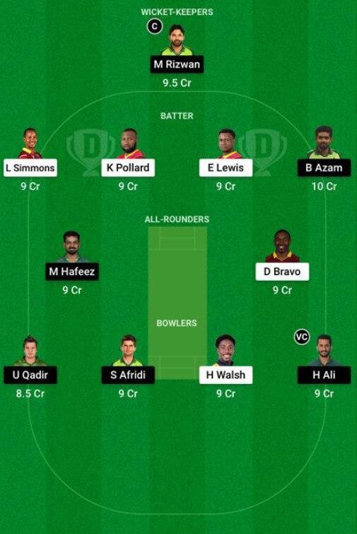 Pakistan vs West Indies Dream11 Prediction: 2nd T20I, July 31, 2021, Pakistan Tour of West Indies